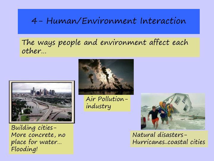 4- Human/Environment Interaction