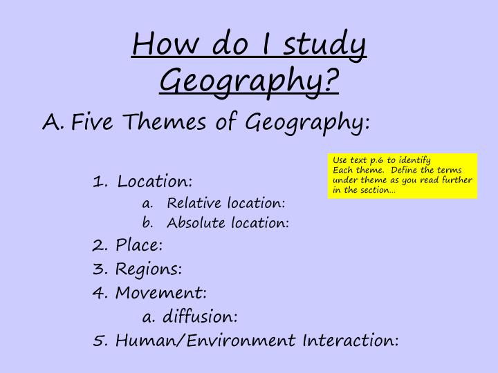 How do i study geography