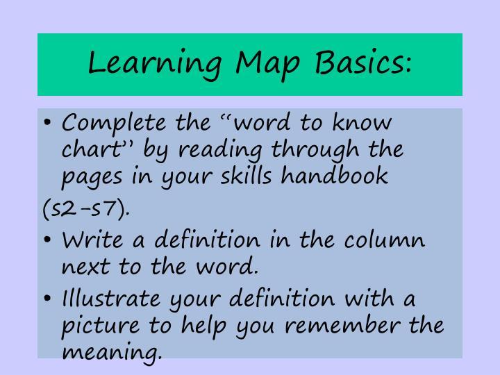 Learning Map Basics: