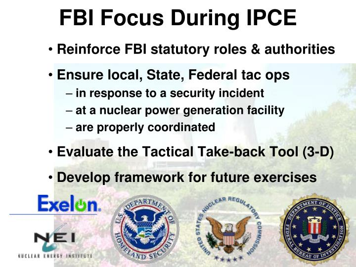 FBI Focus During IPCE