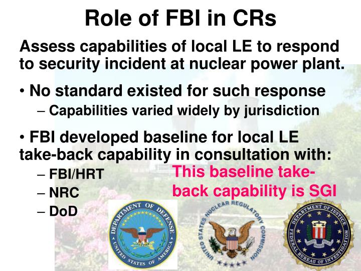 Role of fbi in crs