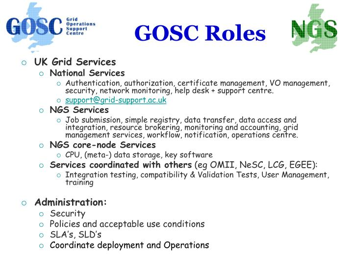 GOSC Roles