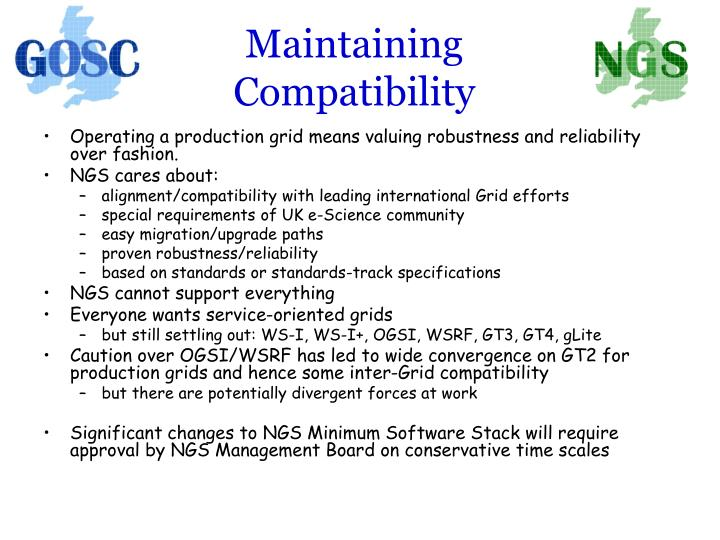 Maintaining Compatibility
