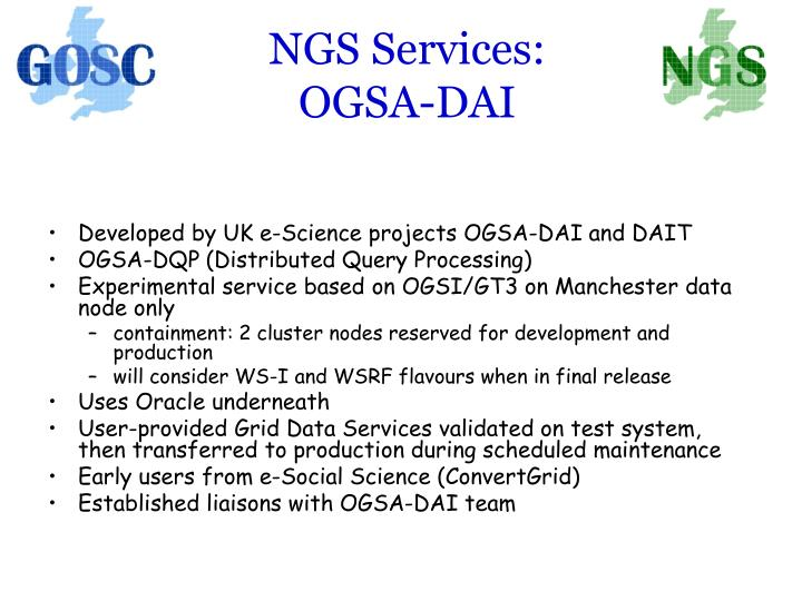 NGS Services: