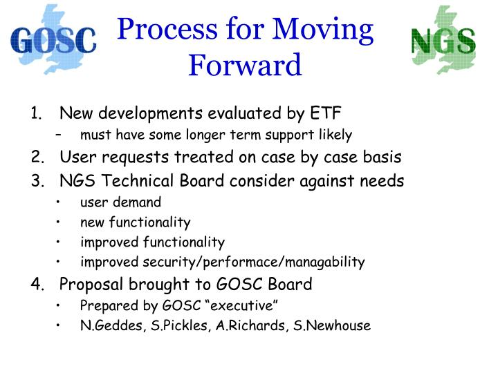 Process for Moving Forward