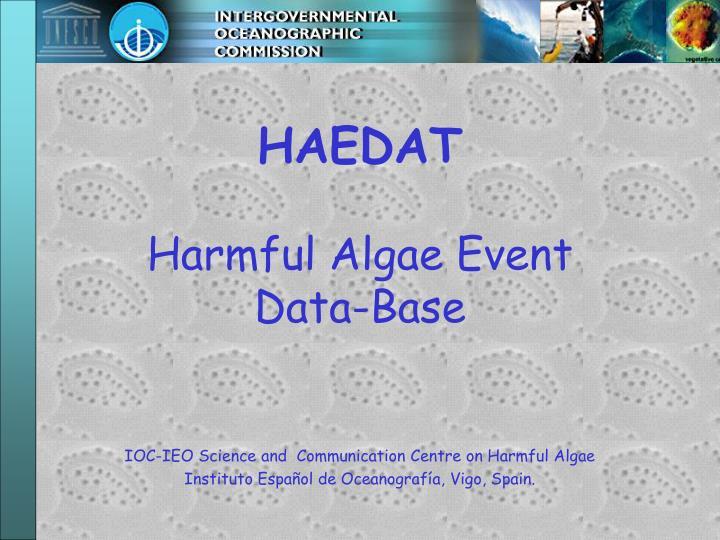 haedat harmful algae event data base n.