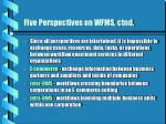 five perspectives on wfms ctnd1