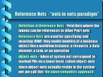reference nets nets in nets paradigm