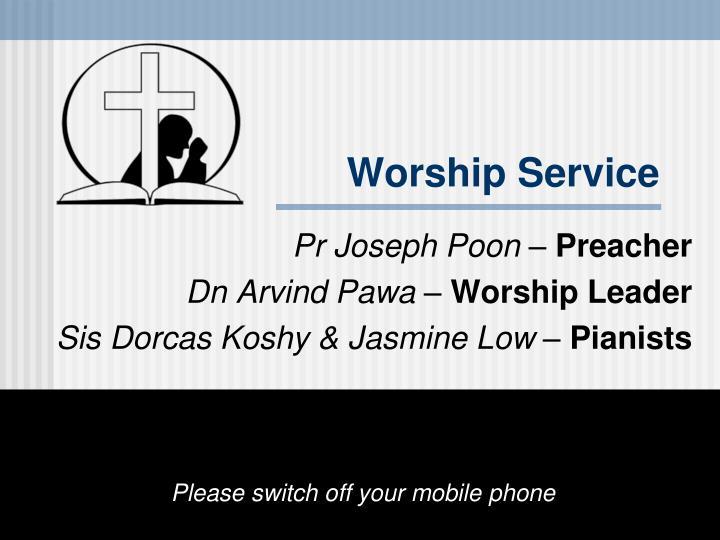 worship service n.