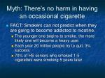 myth there s no harm in having an occasional cigarette