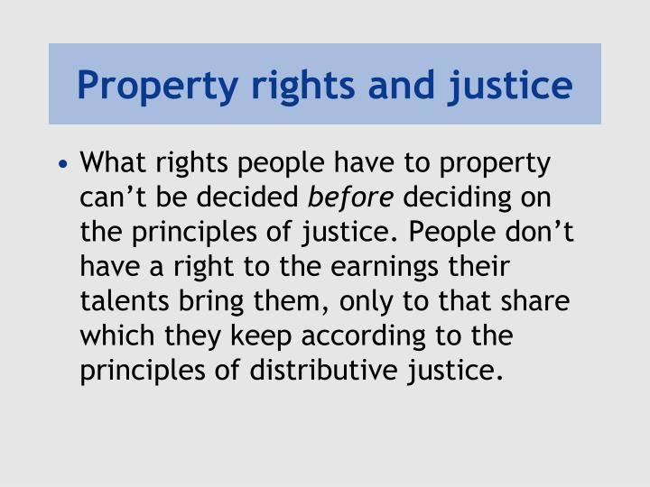 Property rights and justice