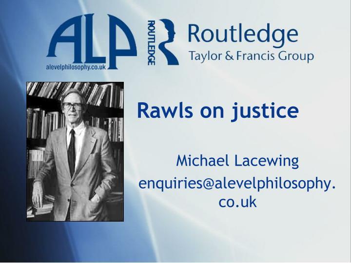 Rawls on justice