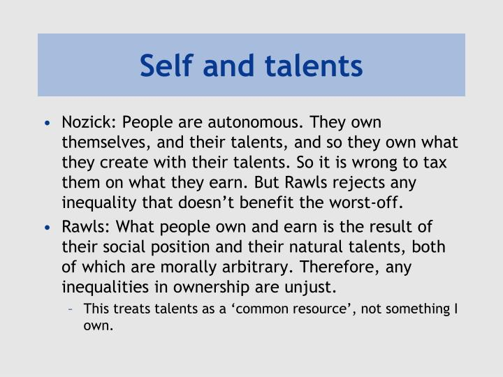 Self and talents