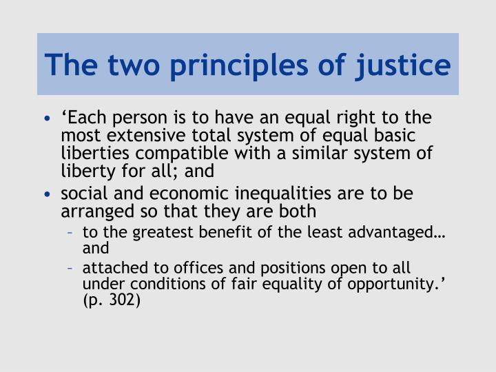 The two principles of justice