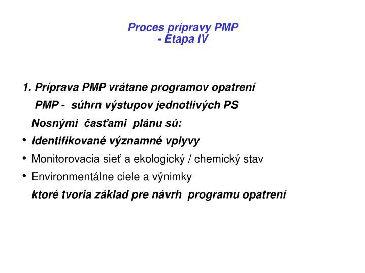 Proces prípravy PMP