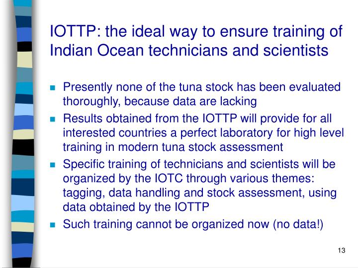 IOTTP: the ideal way to ensure training of Indian Ocean technicians and scientists