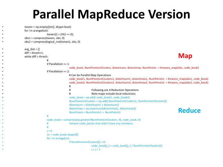 Parallel MapReduce Version
