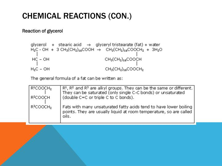 Chemical Reactions (con.)