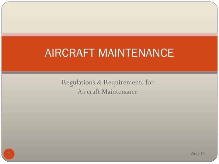 aircraft maintenance n.
