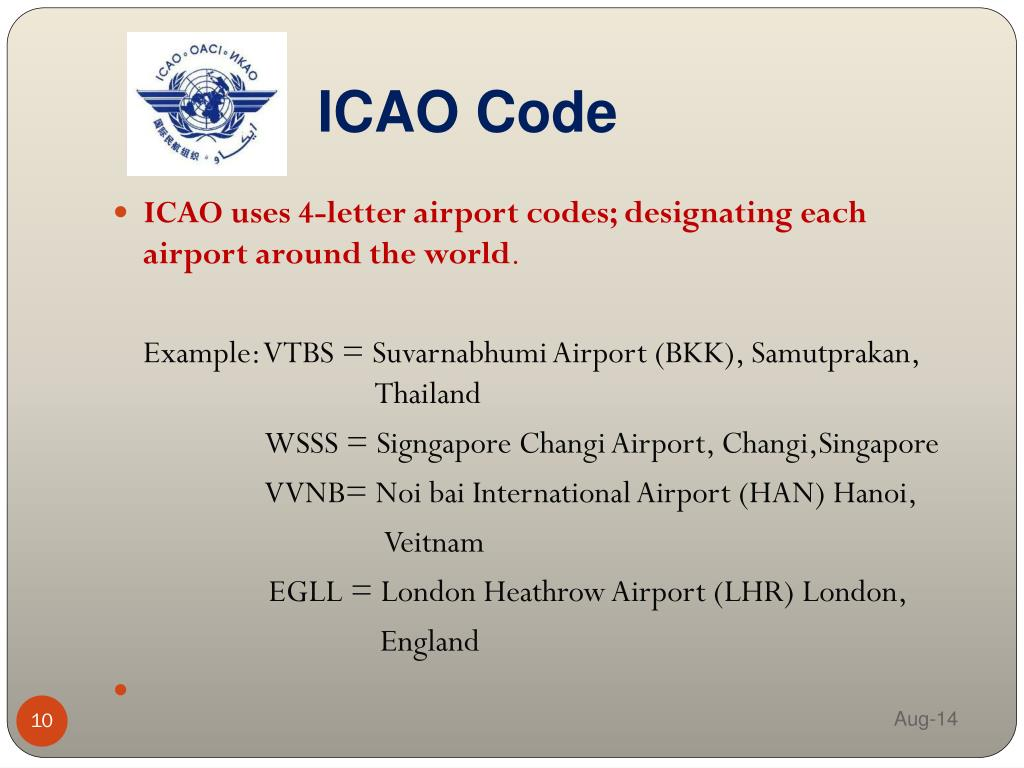 Icao airport code