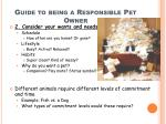 guide to being a responsible pet owner1