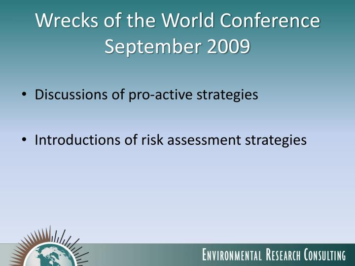 Wrecks of the World Conference