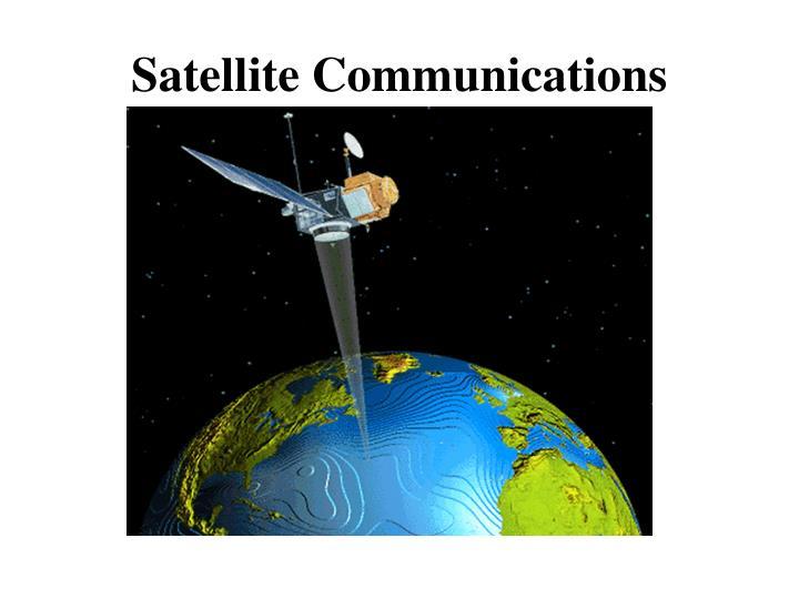 satellite communications n.