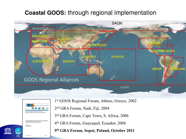Coastal GOOS: