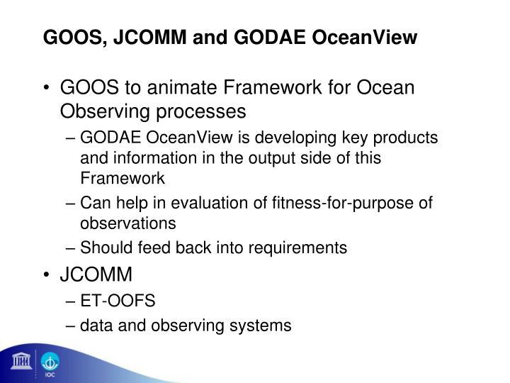 GOOS, JCOMM and GODAE OceanView