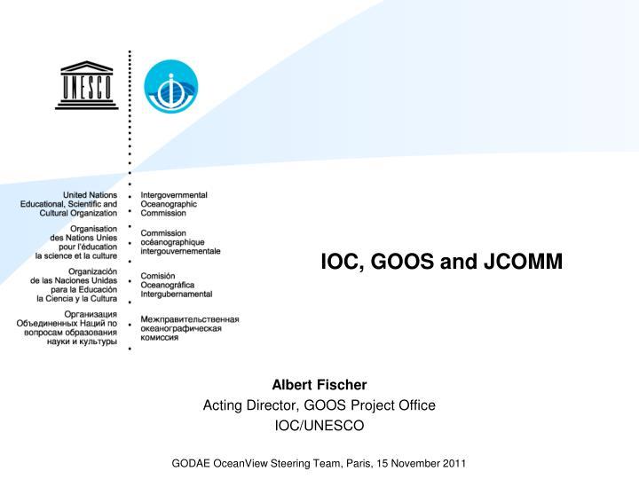 Ioc goos and jcomm