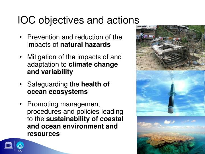 IOC objectives and actions