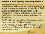 towards a more speedy permitting process