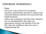 literature review con4