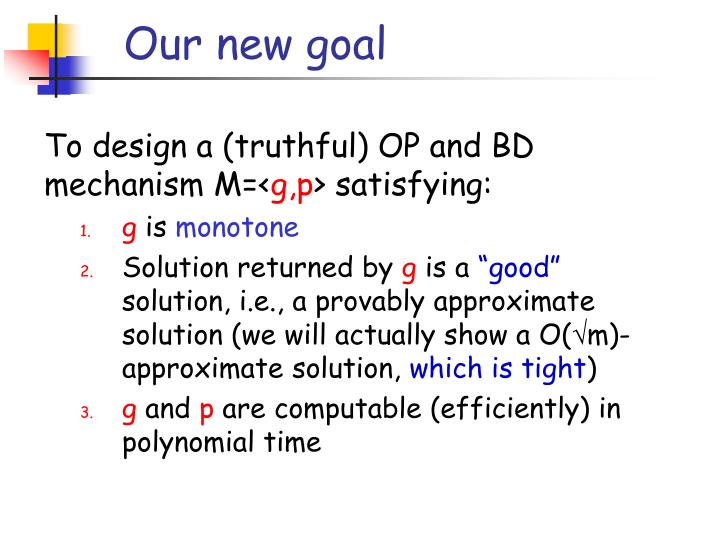 Our new goal