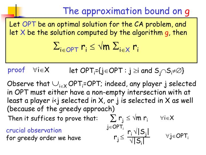 The approximation bound on