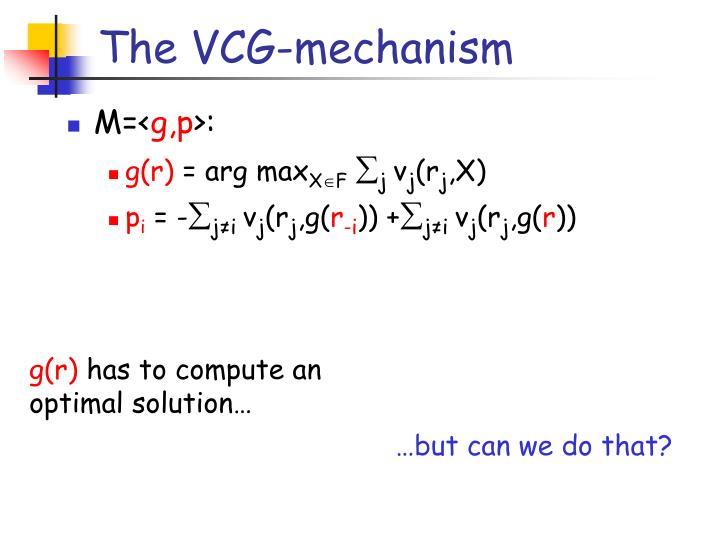 The VCG-mechanism