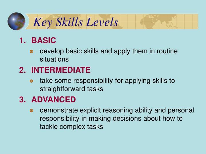 Key Skills Levels