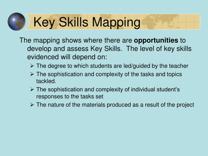 Key Skills Mapping