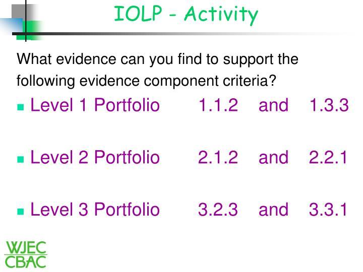 IOLP - Activity