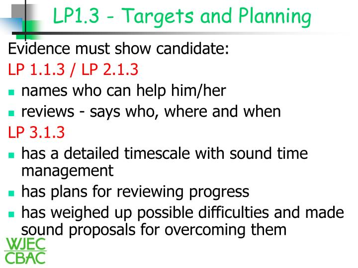 LP1.3 - Targets and Planning