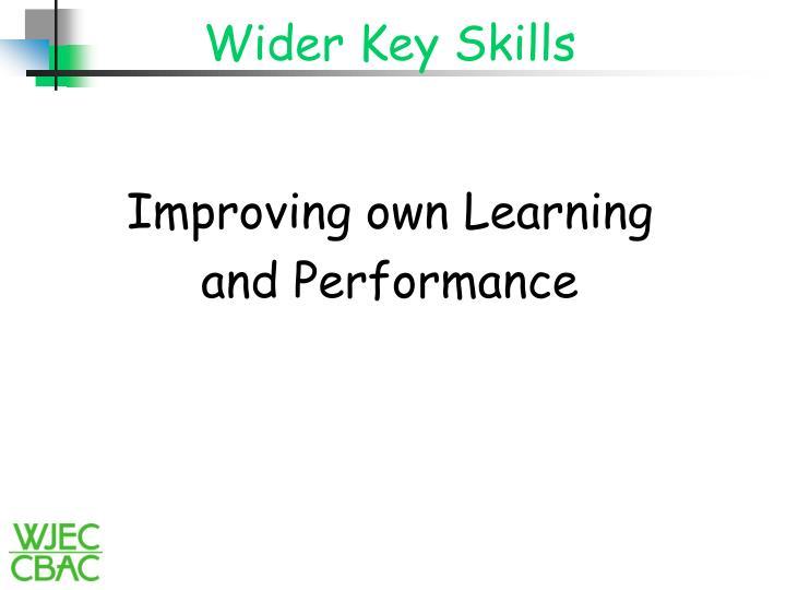 Wider key skills