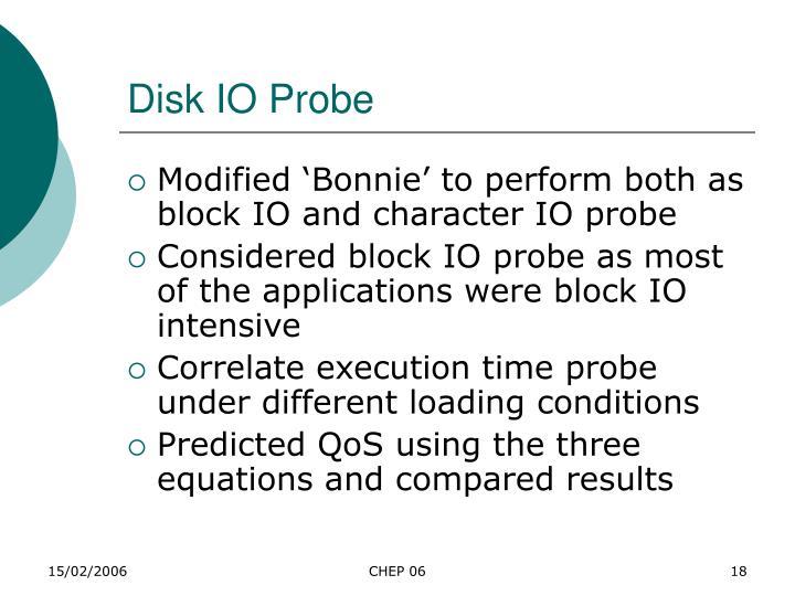 Disk IO Probe