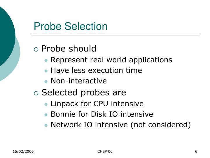 Probe Selection