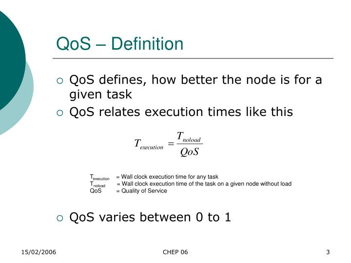 Qos definition