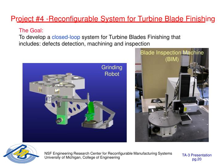 Project #4 -Reconfigurable System for Turbine Blade Finishing
