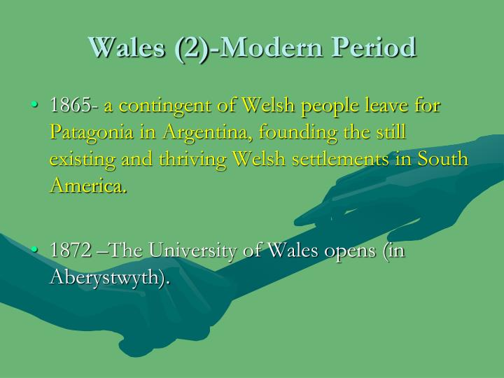 Wales (2)-Modern Period