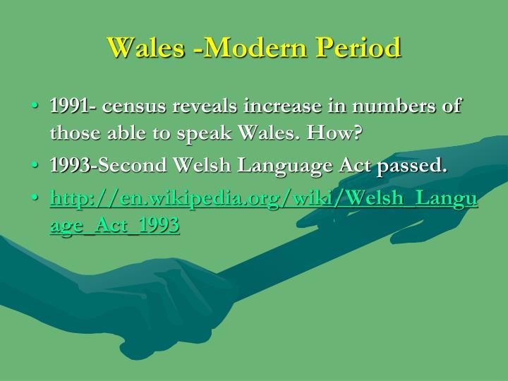 Wales -Modern Period