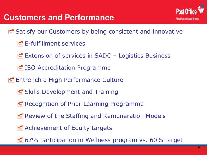 Customers and Performance