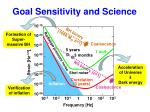 goal sensitivity and science