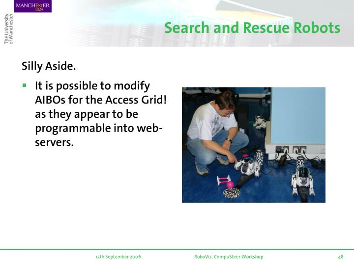 Search and Rescue Robots